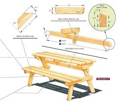 How To Make A Benchless Picnic Table by Bench To Picnic Table Plans Dining Table Ideas