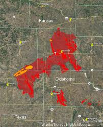 Map Of The State Of Kansas by Fires In Kansas Oklahoma And Texas Burn Hundreds Of Thousands Of