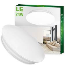 Flush Ceiling Lights Living Room by Le 24w 16 Inch Daylight White Led Ceiling Lights 180w