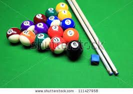 Pool Tables Games Billiard Green Table Balls Top View Stock Vector 684581911