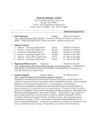 employment resume exles resume exles for self employed person you can make money