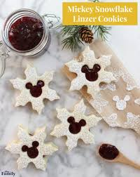 cuisine mickey mickey snowflake linzer cookies disney family