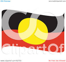 Flag Black Red Yellow Clipart Illustration Of A Red Black And Yellow Waving Australian