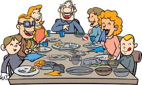 family at thanksgiving dinner clipart clipartxtras
