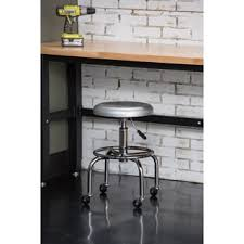 Rolling Bar Stool Furniture Of America Rolling Ryder Height Adjustable Leatherette