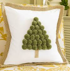 tree pom pom pillow on sutton place
