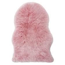 Imitation Sheepskin Rugs Pink Faux Fur Rug Rug Designs
