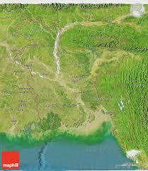 Map Of Bangladesh Satellite 3d Map Of Bangladesh