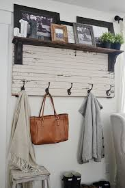 entryway rack diy rustic entryway coat rack a super simple way to create