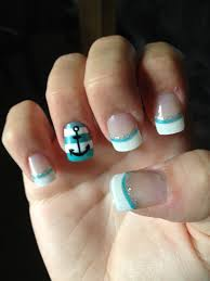 nails design anchor beautify themselves with sweet nails
