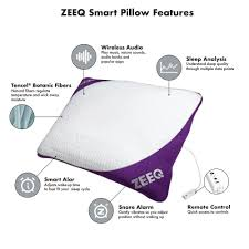 amazon com zeeq smart pillow stop snoring sleep tracker sleep