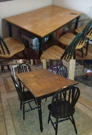 Refinishing A Kitchen Table by Maple Dining Set Refinished Solid Maple Table Was Still Sturdy