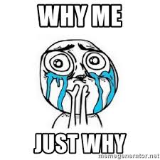 Why Me Meme - why me just why crying face meme generator