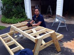 build a picnic table how to build a picnic table in just one day simple diy tutorial