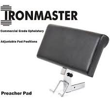 Super Bench Ironmaster Ironmaster Preacher Curl Attachment For Super Bench Biceps Gym Ebay