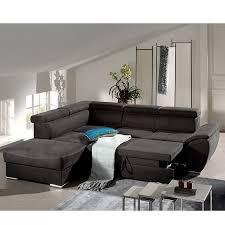 canape d angle noir canapé d angle convertible noir en tissu sofamobili