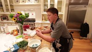 food network kid chef winner gibson borelli cooks for thanksgiving