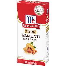 mccormick pure almond extract 1 oz box walmart com