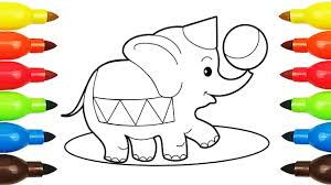 drawing pages elephant duck baby alexander boy with horse coloring