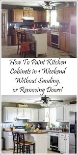 how i painted my kitchen cabinets without removing the doors a