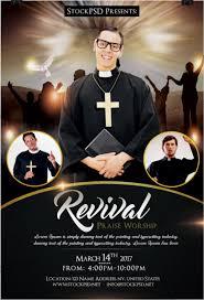 revival u2013 church u0026 pastor freebie psd flyer template free psd