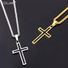 wholesale cross necklace images Collare cross necklaces pendants stainless steel pendant gold jpg