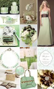 mint green wedding mint green and chocolate brown wedding