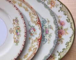 mismatched plates wedding vintage china plates etsy