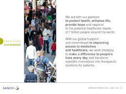 sanofi si e social sanofi corporate presentation