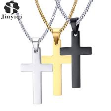 men s religious jewelry jiayiqi men s cross pendant necklace stainless steel necklace