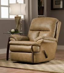 beige top grain italian leather modern rocker recliner