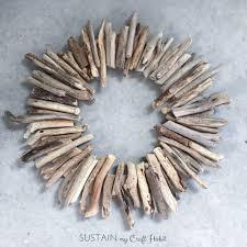 how to make a diy driftwood wreath sustain my craft habit