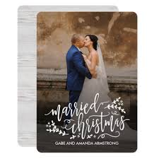 newlywed christmas cards a married christmas