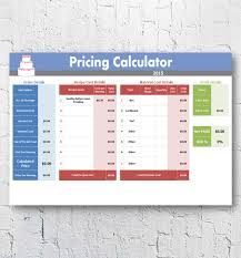 Overhead Calculation Spreadsheet Cake Decorating Home Bakery Business Management Software Pricing