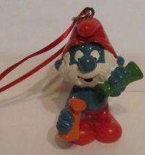 papa smurf ornament ebay