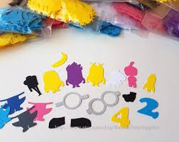 Minion Birthday Decorations Minion Character U0027s Figures Wall Decor For Birthday Party