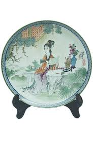 a of mansion series porcelain decorative plate jia tanchun