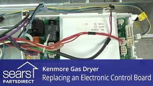 how to replace a kenmore gas dryer electronic control board youtube