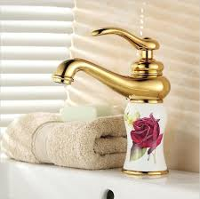 Brass Faucets Bathroom 2017 8 white painted flower porcelain faucets bathroom brass