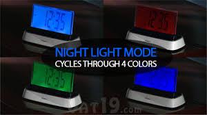 night light alarm clock moshi voice activated alarm clock