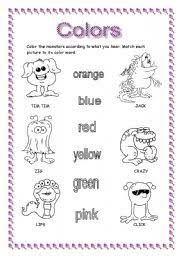 english teaching worksheets monsters