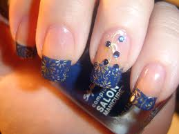 blue french tip nail designs displaying 20 u003e images for blue