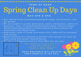 spring clean spring clean up days mead