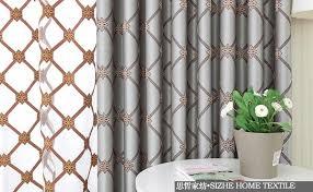 Pattern Window Curtains Blue Diamond Pattern Modern American High Grade Custom Made