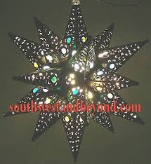 Mexican Sconces Mexican Tin Hanging Stars Rustic Star Light Fixture