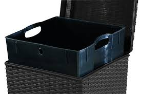 keter pacific 30 gal outdoor resin wicker waste basket trash can