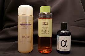 Toner Aha my evening skin care routine