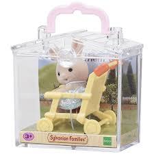 Sylvanian Families Garden Sylvanian Families Rabbit On Baby Chair Baby Carry Case Amazon Co