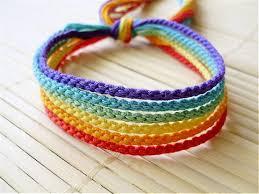 friendship bracelet rainbow images Muted rainbow friendship bracelet set six handmade bracelets etsy jpg