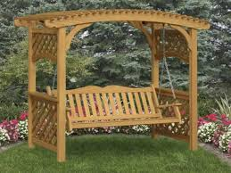covered benches trellis bench garden arbor with bench swing